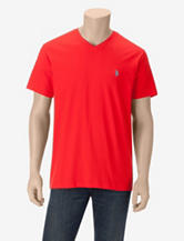 U.S. Polo Assn. Solid Color V-Neck T-shirt