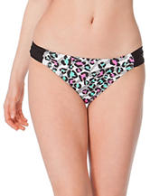 In Mocean Leopard Mix Side Tab Hipster Swim Bottoms – Juniors