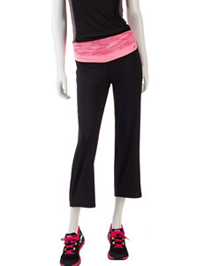 L.A. Gear Black & Pink Relaxed Cropped Capris –Misses