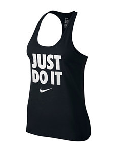 Nike® Just Do It Solid Color Racerback Tank Top