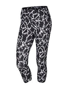 Nike® Black & White Quake Capris