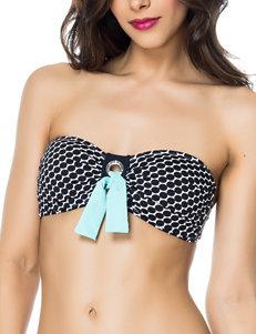 Bleu Brown Swimsuit Tops Bandeau