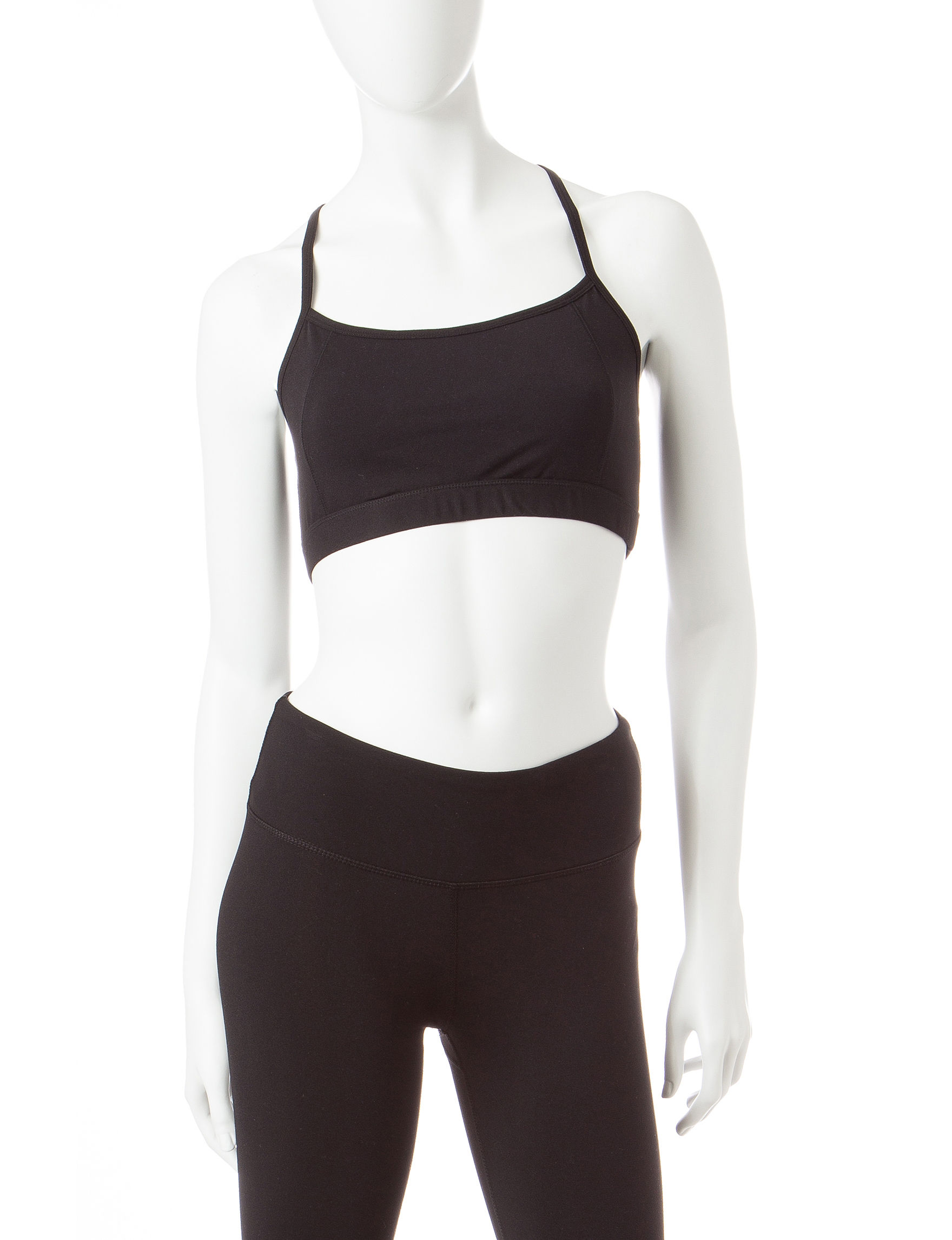 Steve Madden Black Bras Sports Bra