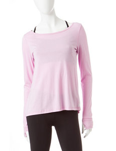 Steve Madden Solid Color Double Cutout Top