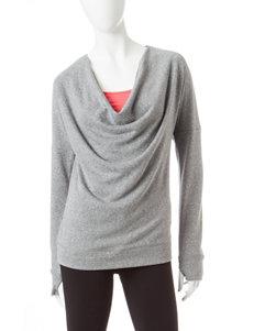 Steve Madden Heather Grey Drippy Neck Sweatshirt
