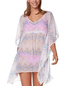 Miken Aqua / White Cover-Ups Push Up