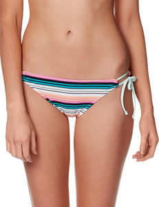 Hot Water Striped Keyhole Bikini Swim Bottom