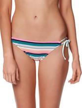 Hot Water Striped Keyhole Bikini Swim Bottom
