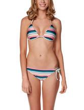 Hot Water Striped Triangle Bikini Swim Top