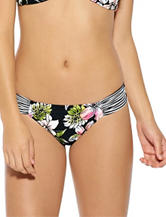 Hot Water Shirred Tab Hipster Swim Bottoms