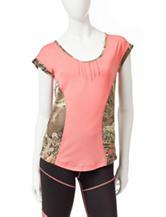 Realtree® Girl Coral Color Block Knit Top