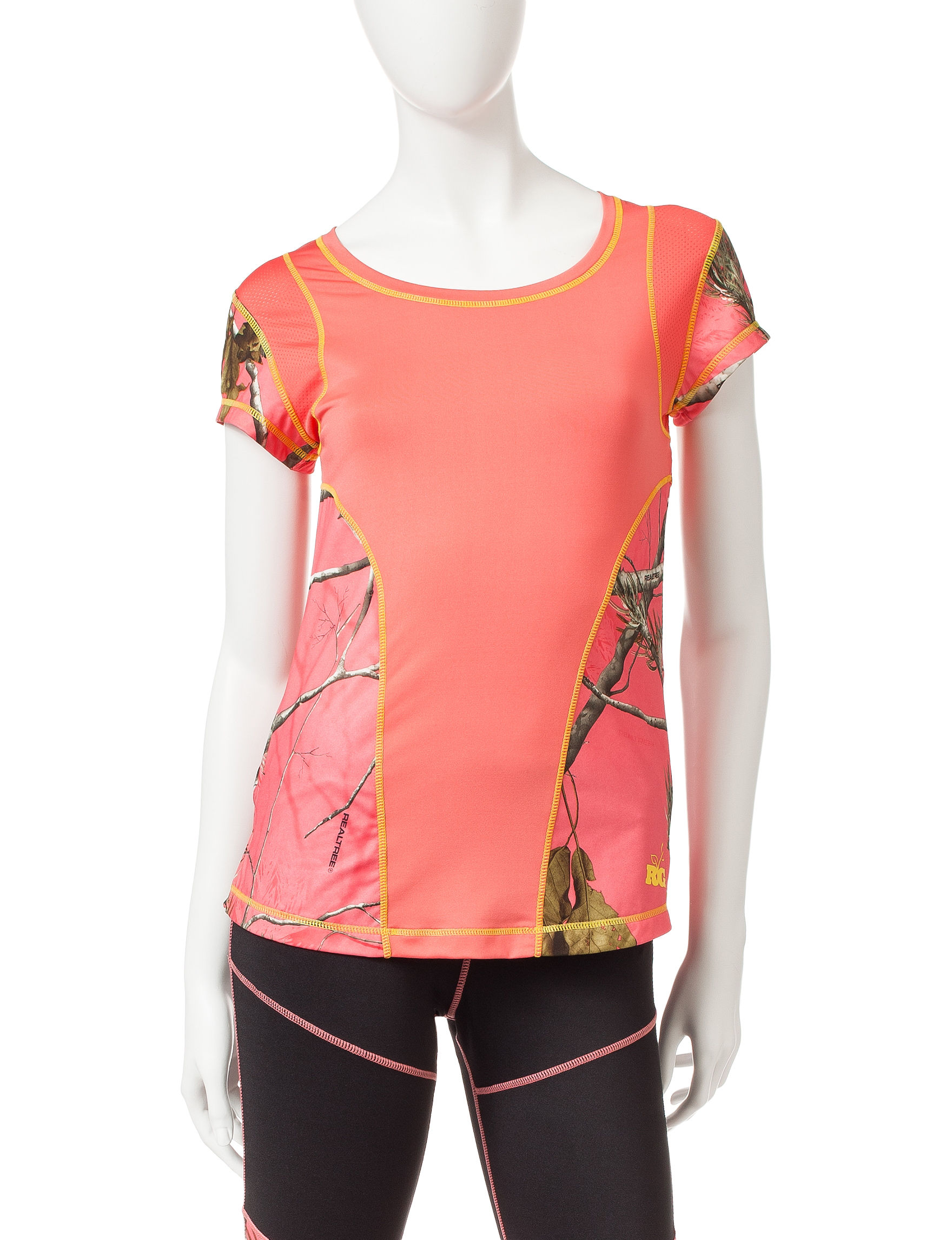 Realtree Coral / Brown Tees & Tanks