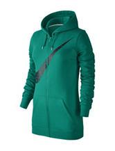 Nike® Green Club Fleece Swoosh Zip Hoodie