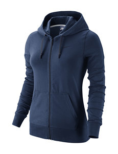 Nike Navy Club Fleece Full Zip Hoodie