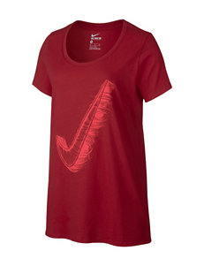 Nike® Red Swoosh Boyfriend T-shirt