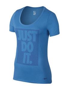 Nike Blue Just Do It Dir-Fit Top