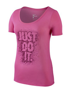 Nike® Pink Just Do It Scoop Top