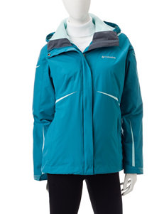 Colombia Plus-size Blue Water Proof Jacket