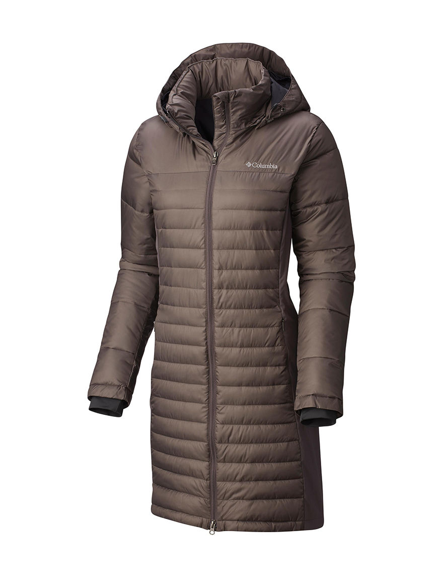Columbia Brown Puffer & Quilted Jackets