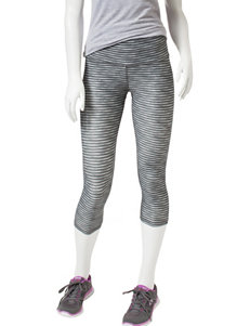 Skechers® Black & White Spacedye Capri Leggings