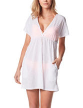 Porto Cruz Solid Color Surplus Swim Cover Up