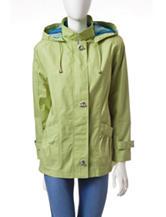 Mackintosh Green Poplin Toggle Coat