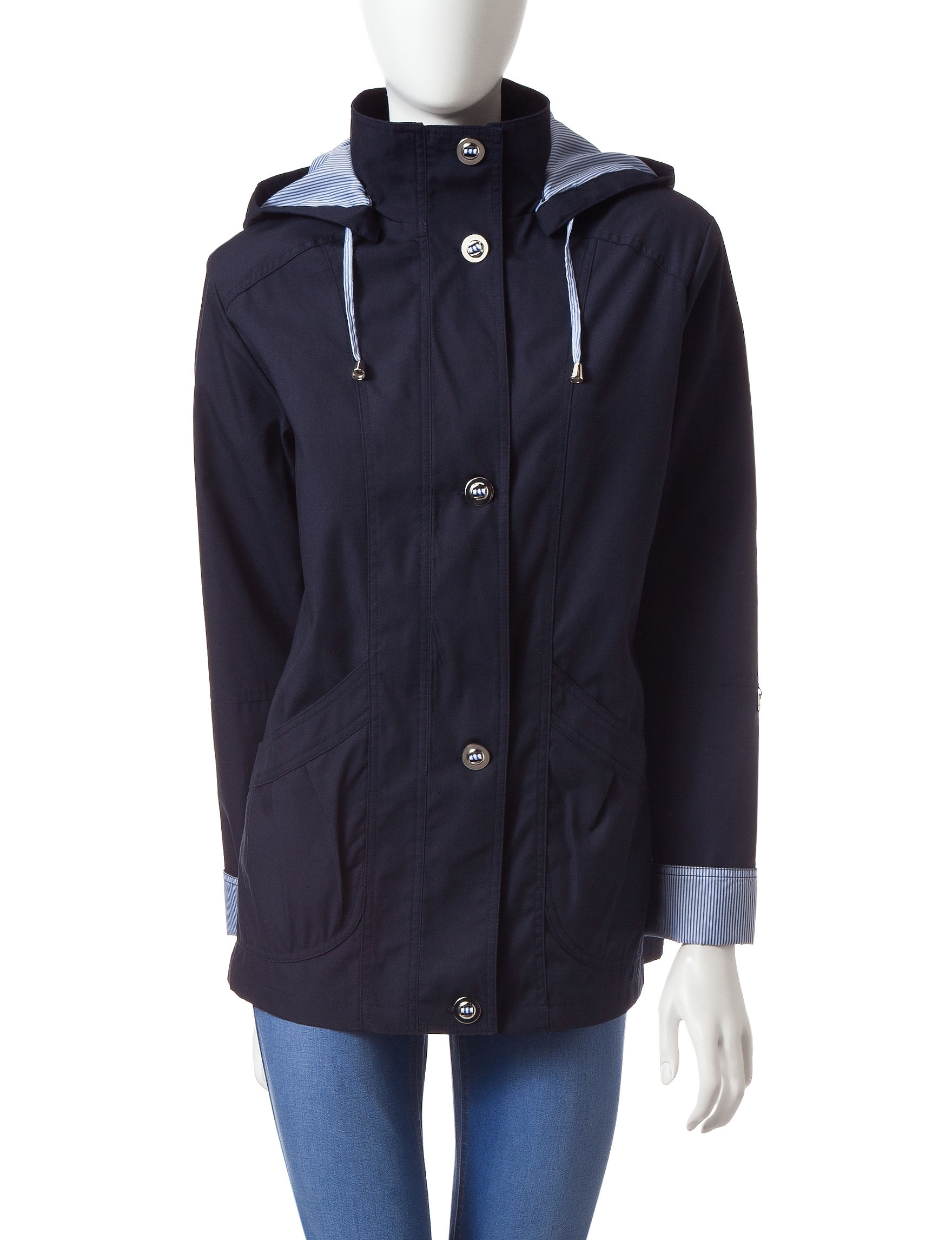 Mackintosh Navy Rain & Snow Jackets