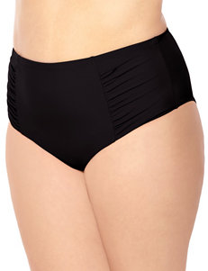 Costa Del Sol Plus-size Solid Color Black Brief Swim Bottoms
