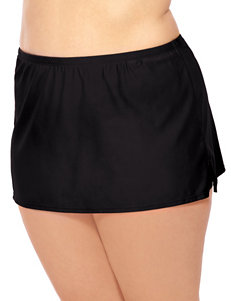 Wearabout Black Slit Skirtini Swim Bottoms
