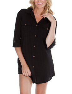 Wearbout Plus-size Big Shirt Swim Cover Up