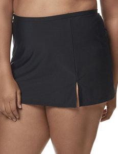 Penbrooke Black Swimsuit Bottoms Skirtini