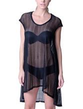 Jordan Taylor Solid Color Black Trapeze Swim Cover Up