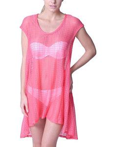 Jordan Taylor Solid Color Pink Trapeze Swim Cover Up