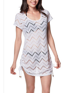 Wearbout White Chevron Club Swim Cover Up