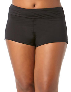 Cole of California Plus-size Black Twist Front Swim Bottoms
