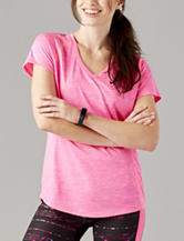 H2 Hannah Performance Pink Space Dye Jersey Knit Top