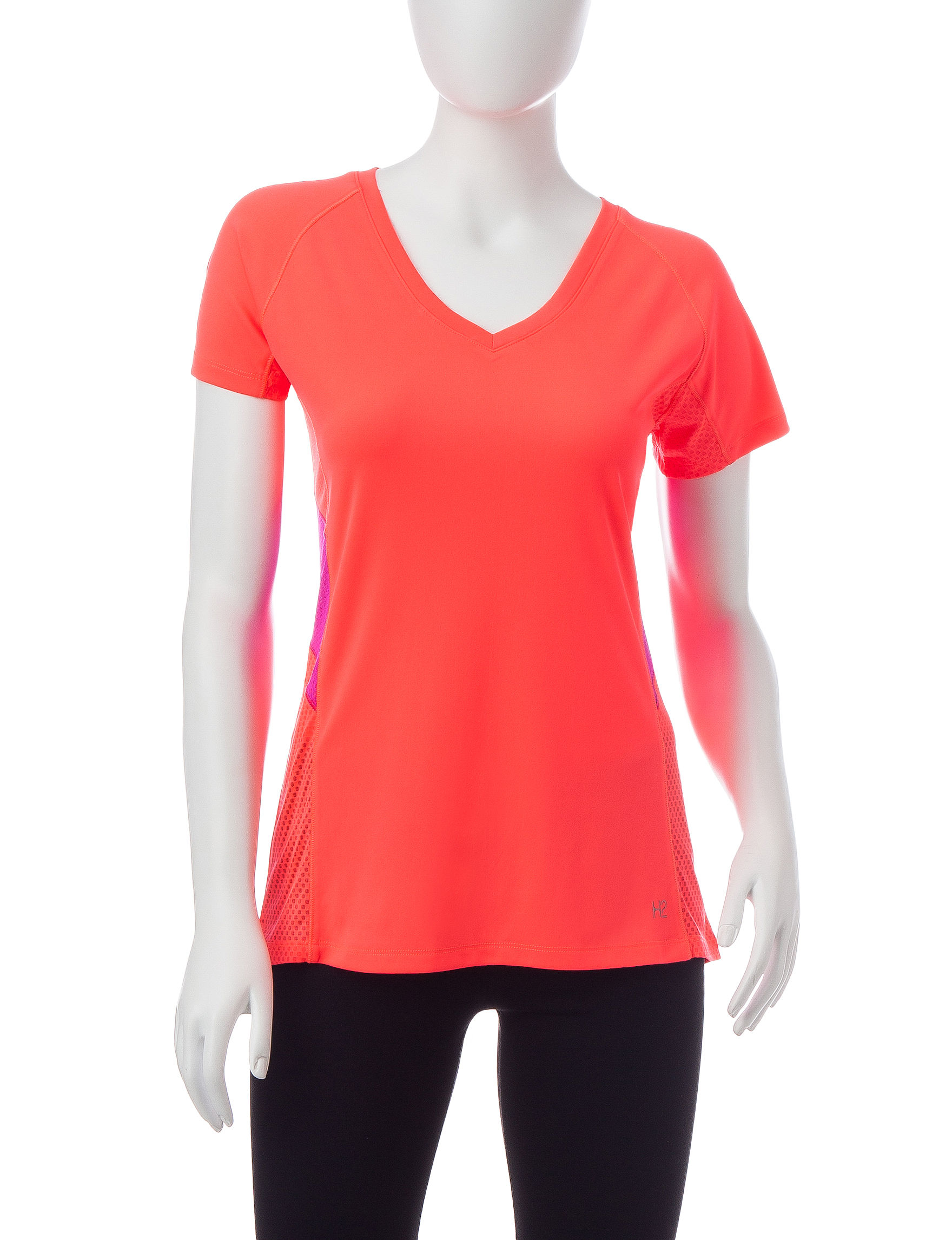 H2 Hannah Performance Coral Tees & Tanks