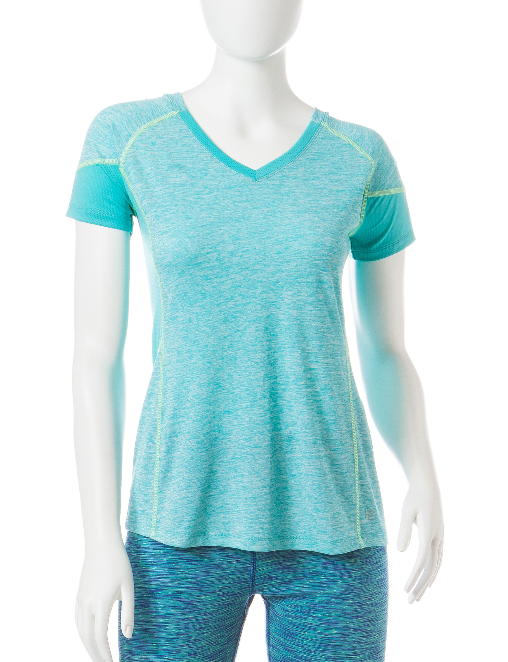 H2 Hannah Performance Blue Tees & Tanks