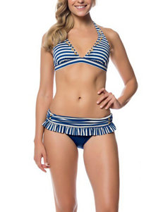 Jessica Simpson Blue Swimsuit Tops Triangle