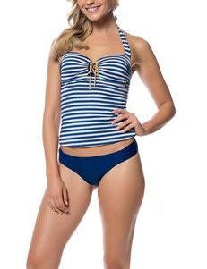 Jessica Simpson Hey Sailor Tankini Swim Top