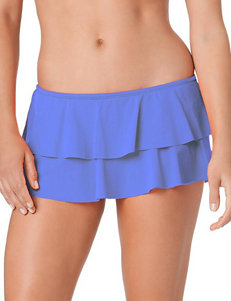 In Mocean Medium Blue Ruffle Skirtini Swim Bottoms