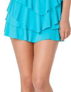 In Mocean Turquoise Ruffle Skirtini Swim Bottoms
