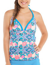 Polka Dot Gypsy Dream Print Tankini Swim Top