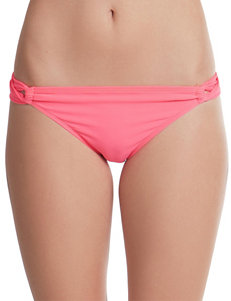 Polka Dot Diamond Desire Solid Color Hipster Swim Bottoms