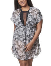 Miken Tropical Floral Print Swim Cover Up