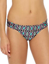 Hot Water Aztec Print Shirred Hipster Swim Bottoms