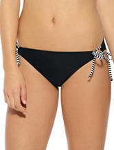 Hot Water Striped Tie Hipster Swim Bottoms