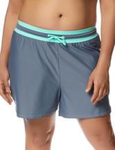 Free Country Plus-size Drawstring Swim Shorts