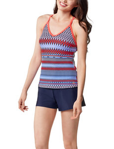 ZeroXposur Bar Back Tankini Swim Top