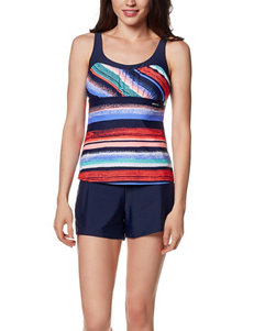 Zero Xposur Blue Swimsuit Tops Tankini